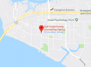 Map and directions to Gulf Coast Family Counseling
